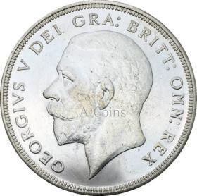 英国1皇冠乔治V 1934花圈皇冠硬币