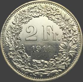 瑞士硬币1911年