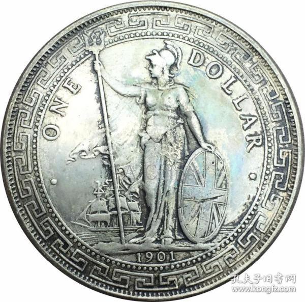 英国1901年义元贸易站洋银元