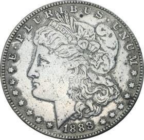 美国摩根1888年硬币