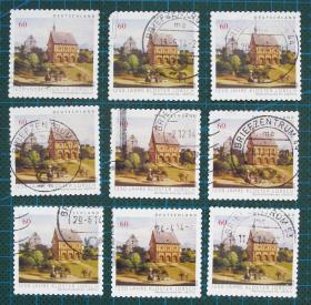 德国邮票----洛尔施修道院1250周年(信销票)
