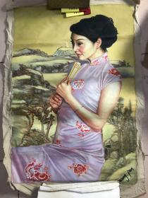 布制手绘油画