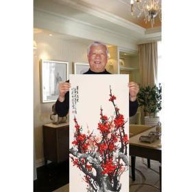 ♥【王成喜】手绘三尺条幅梅花 奇香不老 国画书画