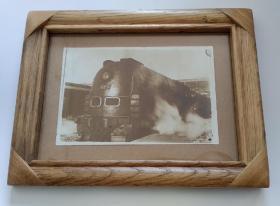 民国火车蒸汽机车老照片