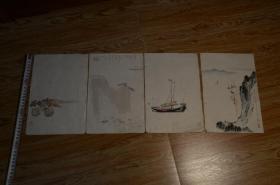 6-70年代左右木板水印信笺,朵云轩色彩极好,感觉比古人的笺纸还漂亮
