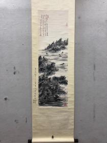 林散之山水立轴 原装原裱 带有林筱之鉴定 画心尺寸104厘米✖️33厘米