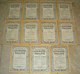 National Geographic 国家地理杂志英文版1917年1-12月全年11期合售