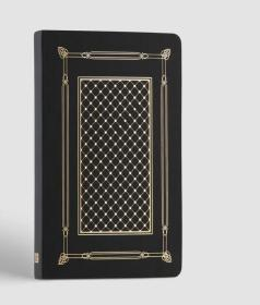 人民文学出版社,网格本笔记本,黑色