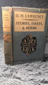 STORIES, ESSAYS AND POEMS BY D.H. LAWRENCE  带书衣   人人文库  EVERYMAN LIVBRARY  17.6X11.5CM