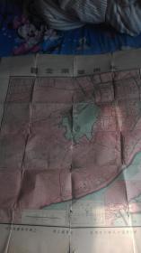民国十八年上海中华书局印行<杭州西湖全图>尺寸95x77cm
