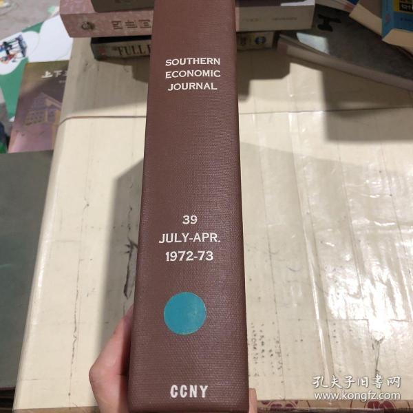 SOUTHERNECONOMICJOURNAL39JULY-APR.1972-73