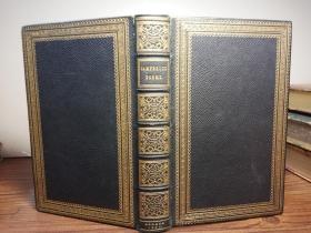 1846年  THE POETICAL WORKS OF THOMAS CAMPBELL  含37副木刻插图  HAYDAY书坊装帧 全皮装帧 三面刷金 17X11CM