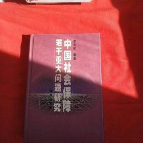 中国社会保障若干重大问题研究