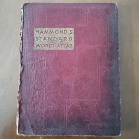 HAMMONDS  STANDARD WORLD ATLAS (1946年 哈蒙德的标准世界地图集 内附大量二战画史)
