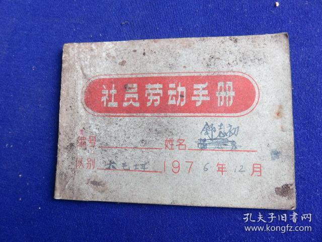 社员劳动手册【全册记录满满1976年农活项目及工分】
