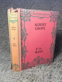 1933年  ALBERT GROPE 带书衣  THE STORY OF A BELATED VICTORIAN   18X12.6CM