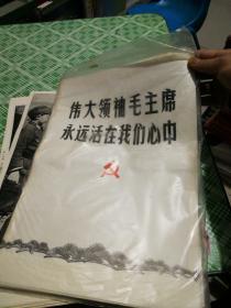 伟大领袖毛主席永远活在我们心中  散页70张