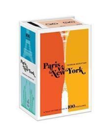 Paris Versus New York Postcard Box