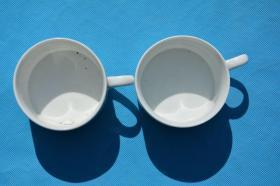 90年代美国商标的 老陶瓷茶杯咖啡杯2个