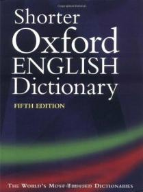 Shorter Oxford English Dictionary, Fifth Edition (thumb Indexed, 2 Volumes)