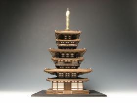 药师寺东塔完成品 1:100 日本小林工艺官方制作 实木工艺礼品 2020年解体修理完工庆祝