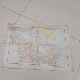 加拿大地图  1971年  4开