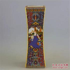 大清雍正珐琅彩四方瓶