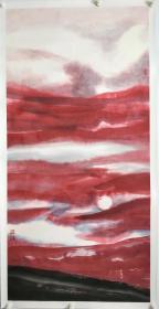 终身保真名家字画,曲燕,四尺整张(托裱)中国美术家协会会员,天津画家