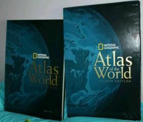 【无现货 可预定】National Geographic Atlas Of The World  Eighth Edition 国家地理协会 世界地图集 第八版 小四开精装带盒