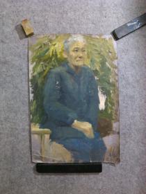 70至80年代 老油画人物 手绘原稿真迹 无签名