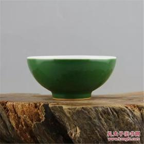 1962年上海博物馆军绿釉纹碗