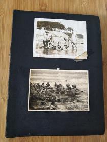 侵华日军老相册,家人及战友,等,收录大小照片八十多张,