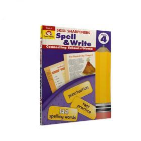 Evan-MoorSkillSharpeners技能铅笔刀Spell&WriteGrade4四年级拼写美国加州教辅