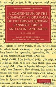 A Compendium Of The Comparative Grammar Of The Indo-european Sanskrit Greek And Latin Languages 2