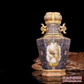 大清雍正年制珐琅彩描金花鸟纹瓶