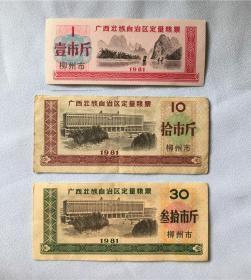 1981年广西定量粮票