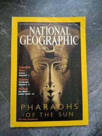 《NATIONAL GEOGRAPHIC》国家地理杂志  期刊 2001年4月 英文版 ANCIENT EGYPT·COLUMBIA RIVER·PHARAOHS·MINKE WHALES·GYPSIES·FLOWER TRADE·HARLEM,NY  01