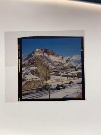 西藏拉萨布达拉宫老照片原版彩色柯达kodak 反转片 80年代左右老底片