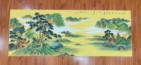 中国美术家协会会员李仙山老师精品小六尺仿古山水画作品编号vs0012