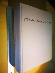 法文原版 12开大精装 <拉封丹寓言>版画插图 珍藏版 Fables et contes de La Fontaine