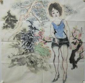 终身保真名家字画,王玉玺,斗方号桃花园主,1965年生,甘肃泾川人。进修于解放军艺术学院,后学习于中央美术学院,中国美术家协会会员。1992年8月在广州举办个人画展;1993年10月在北京艺术博物馆举办个人画展;1994年9月在中国美术馆举办个人画展。在长期的艺术创作中,逐渐形成了自己的风格。其作品被国内多家博物馆、纪念馆和众多收藏家收藏。