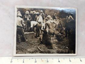 民国抗战时期侵华日军野外作业原版老照片