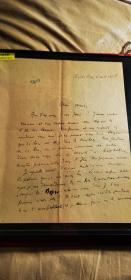 """20世纪法国""""诗人王子""""苏佩维埃尔 亲笔信一封 带签名"""