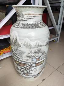 何许人  陶瓷美术大师  高62公分 重30斤 全品完好