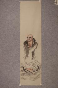 佚名 达摩 老画 日本回流字画 日本回流书画