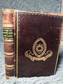 1899年 MACAULAYS LAYS OF ANCIENT ROME  WITH IVRY AND THE ARMADA  《古罗马民谣》全皮装帧 三面书口花纹   14X10CM