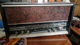 山东银雀牌木壳老收音机