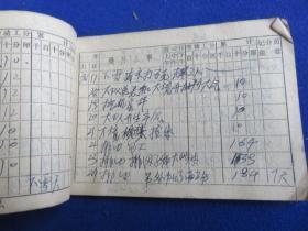 社员劳动手册【工分账本  10分记 竟然有184分的当日高分 项目 估计为农村队长之类的工分记账本 工分项目蛮多】