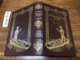 Adventures of Huckleberry Finn , 真皮精装, easton 出版,书口三面刷金( 22k黄金), 能保存数百年的存档级别的无酸纸.