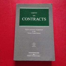 Chitty on Contracts 奇蒂论合同 【Third Cumulatve Supplement to the Twenty -Ninth Edition】   第二十九版累积量第三次补编